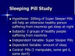 sleeping pill study