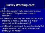 survey wording cont