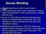 survey wording