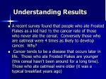 understanding results