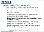 sample market research agenda