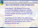 recognition and mobility