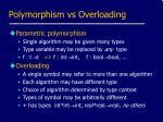 polymorphism vs overloading
