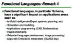 functional languages remark 4