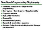 functional programming phylosophy