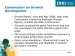 commission on growth development