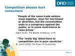 competition abuses hurt consumers