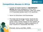 competition abuses in africa