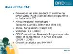 uses of the caf
