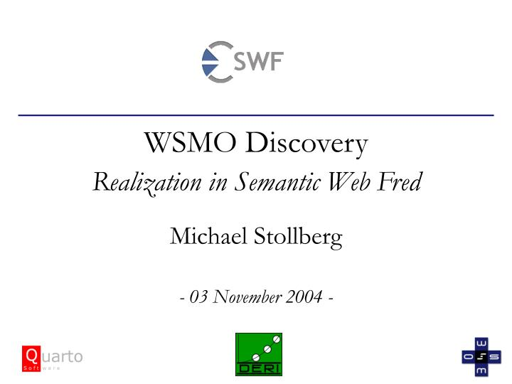 wsmo discovery realization in semantic web fred n.