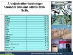 arbejdskraftomkostninger herunder timel ns ultimo 2005 i sv kr