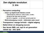 den digitale revolution 3 trin