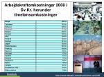 arbejdskraftomkostninger 2008 i sv kr herunder timel nsomkostninger