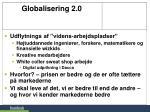 globalisering 2 0