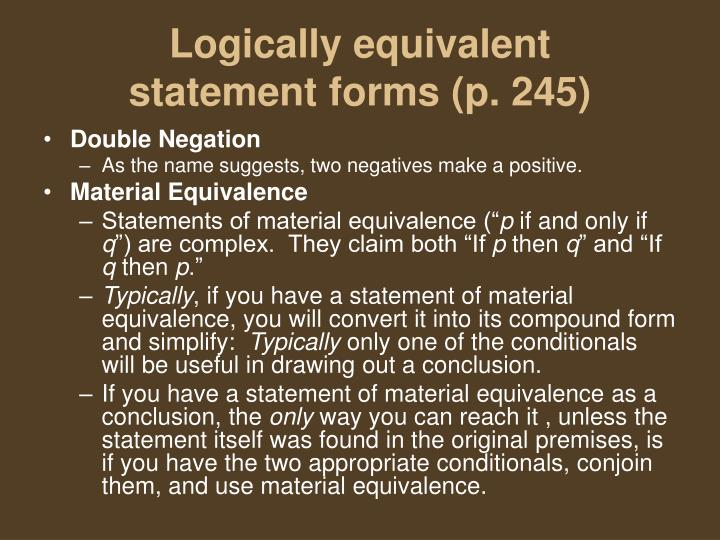 Logically equivalent