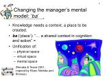 changing the manager s mental model ba