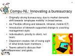 compu nl innovating a bureaucracy