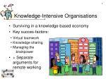 knowledge intensive organisations