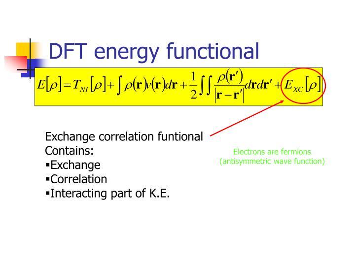 DFT energy functional