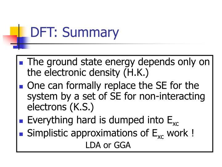 DFT: Summary