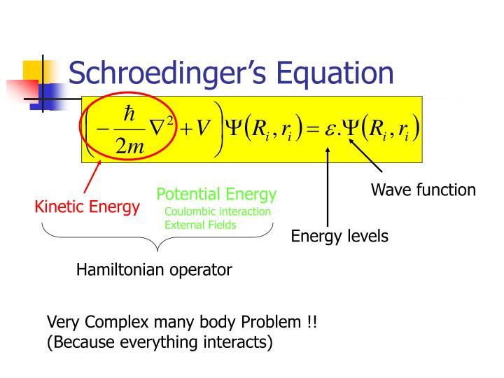 Schroedinger's Equation