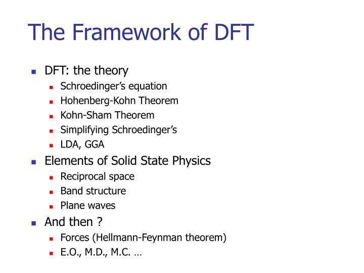 The Framework of DFT
