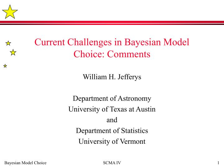 current challenges in bayesian model choice comments n.