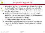 frequentist approaches