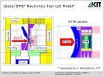 global ifmif neutronics test cell model