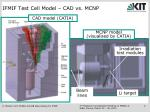 ifmif test cell model cad vs mcnp