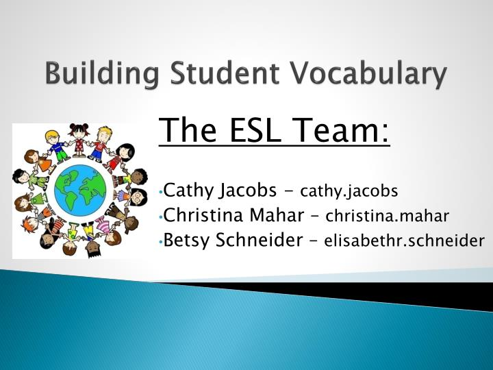 building student vocabulary n.