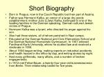 short biography