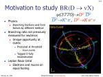 motivation to study br d x
