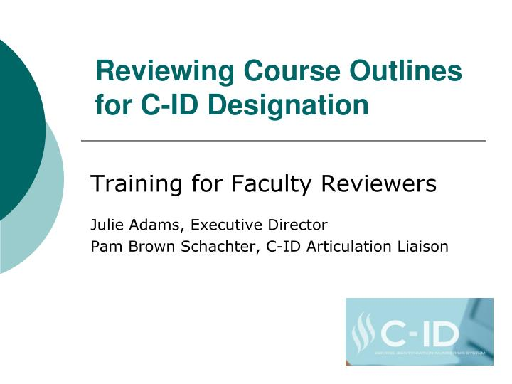 reviewing course outlines for c id designation n.