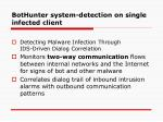 bothunter system detection on single infected client