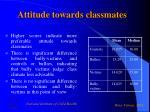 attitude towards classmates