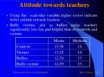 attitude towards teachers