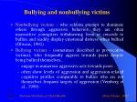 bullying and nonbullying victims