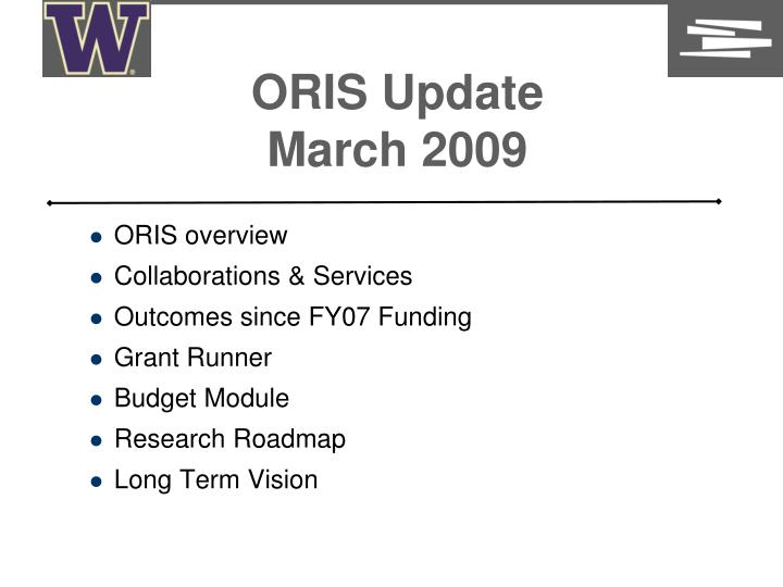 oris update march 2009 n.