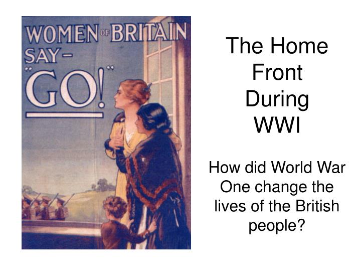 the home front during wwi n.