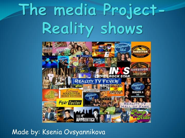 the media project reality shows n.