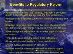 benefits to regulatory reform