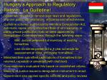 hungary s approach to regulatory reform la guillotine