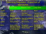 reforming regulation a spectrum of approaches