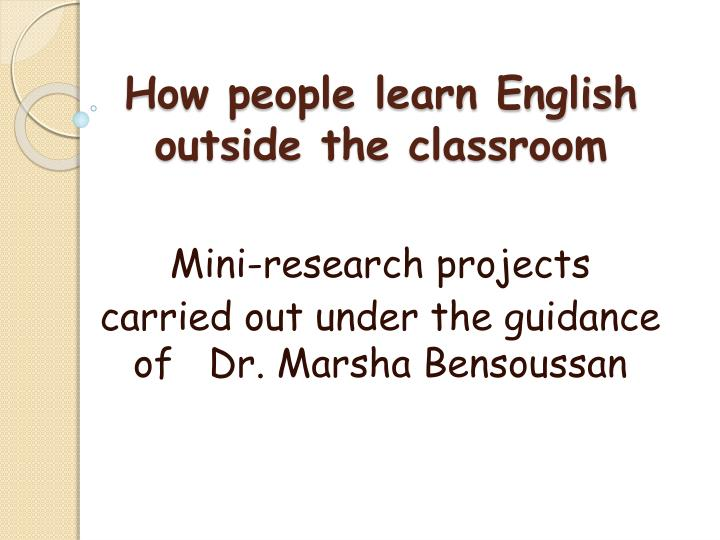 how people learn english outside the classroom n.