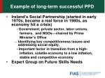 example of long term successful ppd