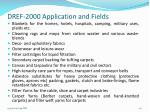dref 2000 application and fields