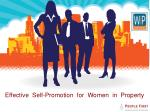 effective self promotion for women in property