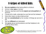 8 gripes of gifted kids