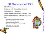 gt services in fisd